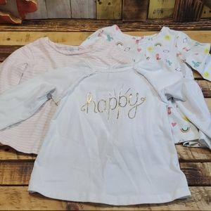 Bundle Of LS Shirts Size 12 Months #A35